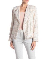 Cece by Cynthia Steffe - Pastel Tweed Zip Front Jacket - Lyst