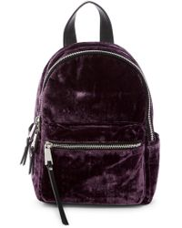 French Connection - Perry Small Velvet Backpack - Lyst