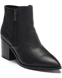 Kenneth Cole Reaction - Cue Up Block Heel Leather Bootie - Lyst