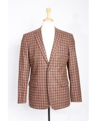 Boga - Check Wool & Cashmere Modern Fit Blazer - Lyst