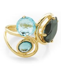 Ippolita - Rock Candy 18k Yellow Gold Prong & Bezel Set Stone Squiggle Ring - Size 7 - Lyst