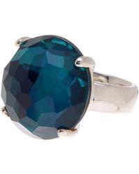 Ippolita - Wonderland Large Round Blue Crystal Ring - Lyst