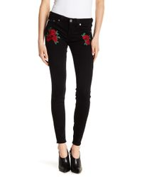 True Religion - Rose Embroidered Super-skinny Jeans - Lyst