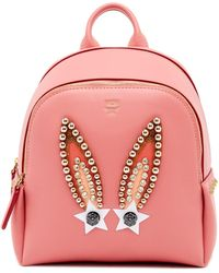 MCM | Star Bunny Mini Leather Backpack | Lyst