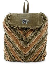 Raj - Frayed Beaded Backpack - Lyst