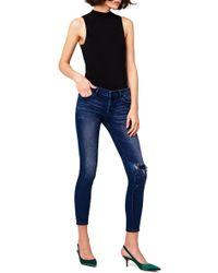 DL1961 - Emma Ripped Power Legging Jeans - Lyst