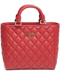 Love Moschino - Quilted Pu Leather Handle Bag - Lyst