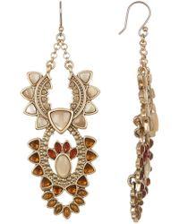 Lucky Brand - Stone Statement Earrings - Lyst