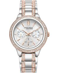 Anne Klein - Women's New York Swarovski Crystal Watch, 34mm - Lyst