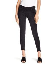 Joe Fresh - Frayed Step Hem Skinny Jeans - Lyst