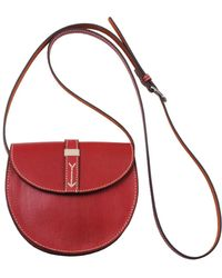 Most Wanted Usa - Handstiched Leather Saddlebag - Lyst