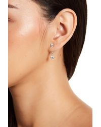 Nadri - Cz Accented Back Drop Earrings - Lyst