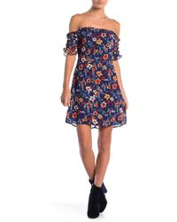Cece by Cynthia Steffe - Faye Floral Off The Shoulder Dress - Lyst