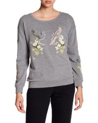 Cable & Gauge - Embroidered Knit Sweatshirt - Lyst