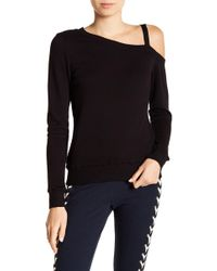 Pam & Gela - One Cold Shoulder Sweater - Lyst