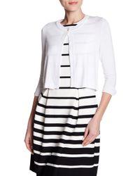Eliza J - 3/4 Length Sleeve One Button Cardigan - Lyst