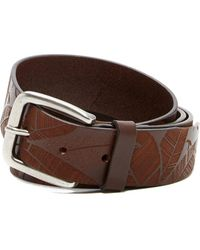 Tommy Bahama - Etched Leaves Leather Belt - Lyst