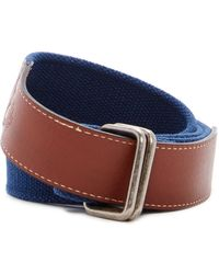 Tommy Bahama - Surf & Sand Woven & Leather Belt - Lyst