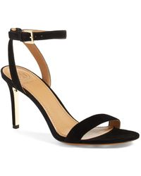 574a856fdc45 Tory Burch - Elana Suede Ankle Strap High Heel Sandals - Lyst