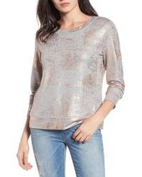 Halogen - (r) Foiled Sweatshirt - Lyst