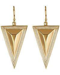 Anna Beck - 18k Gold Plated Sterling Silver Faceted Triangle Drop Earrings - Lyst