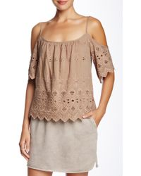 Isy & Ki - Native Embroidered Cold Shoulder Blouse - Lyst
