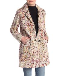 Steve Madden - Marled Confetti Woven Coat - Lyst