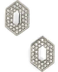 Vince Camuto - Pave Crystal Stud Earrings - Lyst