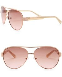 Vince Camuto - 58mm Aviator Sunglasses - Lyst