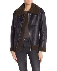 Bagatelle - Faux Leather & Faux Shearling Pilot Jacket - Lyst