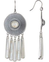 Lucky Brand - Medallion Fringe Drop Earrings - Lyst