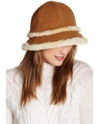 UGG - City Bucket Genuine Dyed Shearling Trim Hat - Lyst
