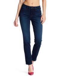 NYDJ - Sheri Faded Slim Fit Straight Leg Jeans - Lyst