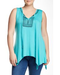 Halo - Embroidered Sharkbite Tank (plus Size) - Lyst