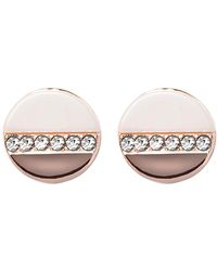 Vince Camuto - Pave Crystal Circle Stud Earrings - Lyst