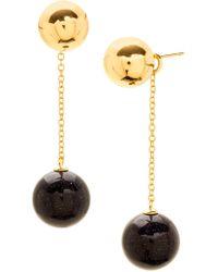 Gorjana - Newport Glitter Ball Chain Drop Earrings - Lyst