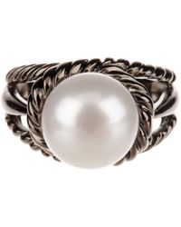 Tara Pearls - 9-10mm White Freshwater Pearl Braided Ring - Lyst