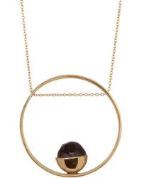 Soko - Horn Cup Stone Circle Pendant Necklace - Lyst