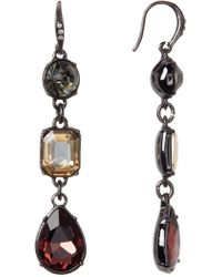 ABS By Allen Schwartz - Linear Stone Drop Earrings - Lyst