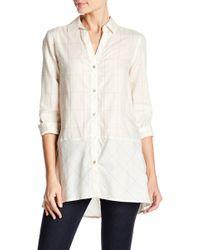 Foxcroft - Daniela Windowpane Print Shirt - Lyst