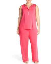 Midnight By Carole Hochman - Sleeveless Jersey Pyjamas (plus Size) - Lyst