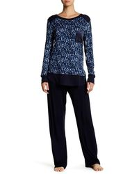 Midnight By Carole Hochman - Printed Rib Pj Set - Lyst