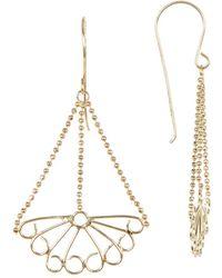 Liberty - 14k Gold Fan Drop Earrings - Lyst