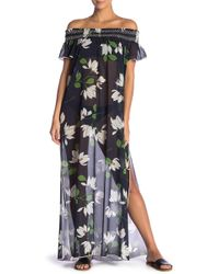 Robin Piccone - Elisa Floral Cover-up Maxi Dress - Lyst