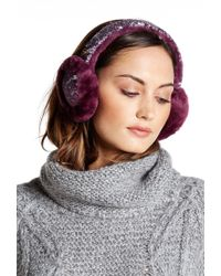 UGG - Two-tone Sparkle Genuine Dyed Shearling Earmuffs - Lyst