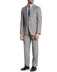 Strong Suit - Claymore Plaid Two Button Notched Lapel Wool Trim Fit Suit - Lyst