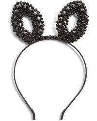 Berry - Faux Pearl Bunny Headband - Lyst
