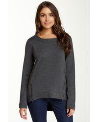 Heather by Bordeaux - Double Zip Sweatshirt - Lyst