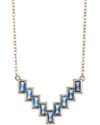 Shashi - 18k Gold Vermeil Valerie Bezel Set Staggered Pendant Necklace - Lyst