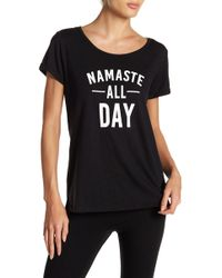 """Marc New York - """"namaste All Day"""" Graphic Tee - Lyst"""